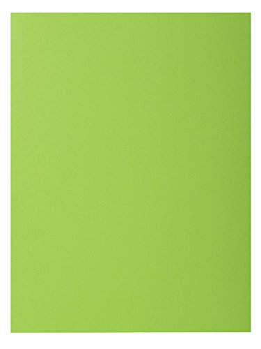 (Exacompta 216013E Rock's 210 2 Flap Folders, 210 GSM, A4, Green, Pack of 50)