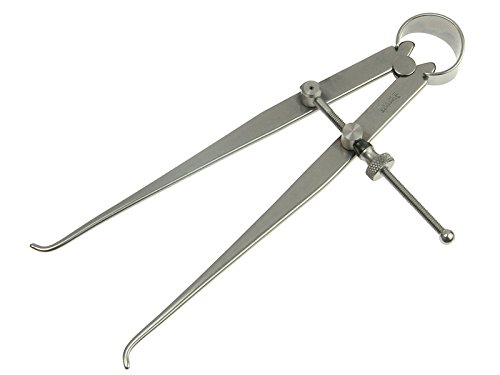 Starrett 73A-4 Solid Nut Inside Spring Caliper, Steel, Flat Leg, 0-4