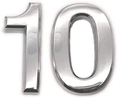Haust/ür Stra/ße 70 mm silberfarben Number 0 micoshop Selbstklebende Nummernschilder f/ür Briefkasten Adressnummer Hotel