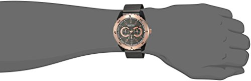 Kenneth Cole REACTION Men's Analog-Quartz Metal Case Rubber/Mesh Stainless Steel Strap Casual Watch