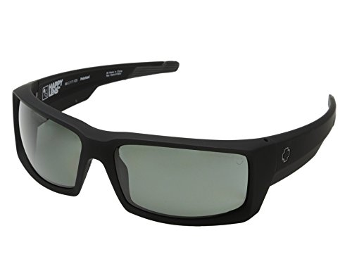 Spy Optic General Sunglasses Matte Black with Grey Green Polarized Lens + Spy - Sunglasses Spy General