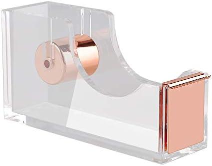 KIDMEN Rosegold Desk Accessory Kit,Set of Stapler, Staple Remover,1000pcs Staples,Tape Dispenser,Big Diamond Ballpoint Pen and 10pcs Binder Clips 31T6Vj 2BcpCL