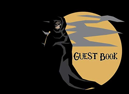 Guest Book: Not just for Halloween! Sign-in Guest Registry Book For Spooky Parties And Meetups (Spooky Events Books)]()