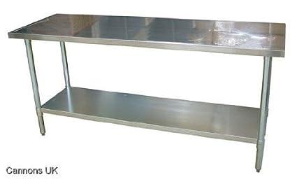 Banco de trabajo Mesa Cocina de acero inoxidable Top 24 \