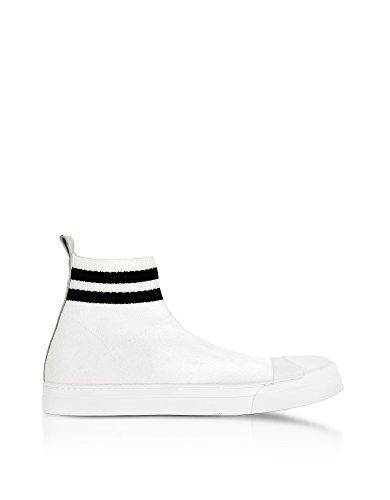 Neil Barrett Hi Top Sneakers Uomo BCT251G9049526 Tessuto Bianco