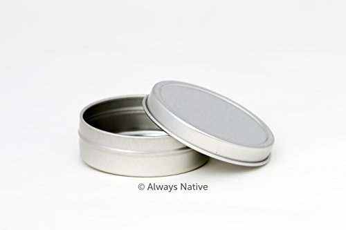 1 oz Small Round Tin Can Empty Slip Slide Top Lid Steel Containers For Cosmetics, Favors, Spices, Balms, Gels, Candles, Gifts, Storage 24 Pack (Small Round Tin)