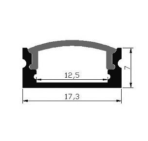 Aluminum Channel For LED Tape Light with Frosted Cover and Mounting Clips, U-Shape, 1M - 3.3FT (Pack of 10)