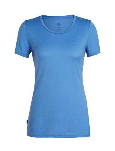 (Icebreaker Merino Women's Tech Lite Short Sleeve Low Crew Neck Shirt, Cove, Small)