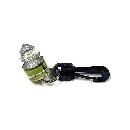 Trident Mini Water Activated LED Clip-On Flashing Light For Scuba Diving and Water Sports, Flashing Green (Diving Tank Scuba)