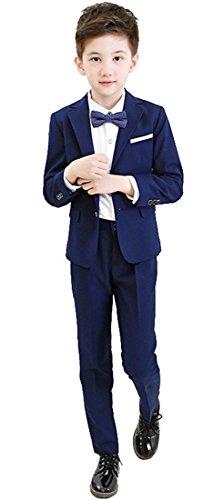 Costume Fancy Dress Boy Del (Gele Boys 5 Pieces Formal Suits,Slim Fit Tuxedo Set (14,)