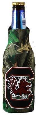 South Carolina Gamecocks Realtree Camo Bottle Koozie   B003DKCKIO