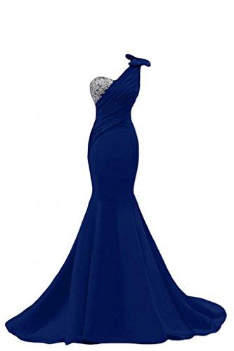 Blu spalla sera Mermaid lunghi Una da Gorgeous Pageant da abito per donna Sunvary abiti Gowns UTqP16Yx