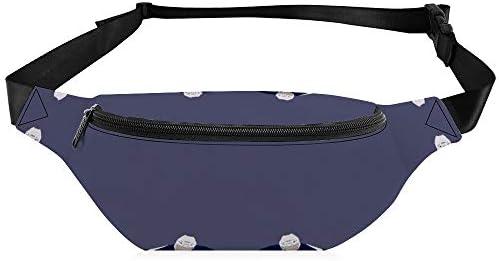 ダークブルーホッケー ウエストバッグ ショルダーバッグチェストバッグ ヒップバッグ 多機能 防水 軽量 スポーツアウトドアクロスボディバッグユニセックスピクニック小旅行