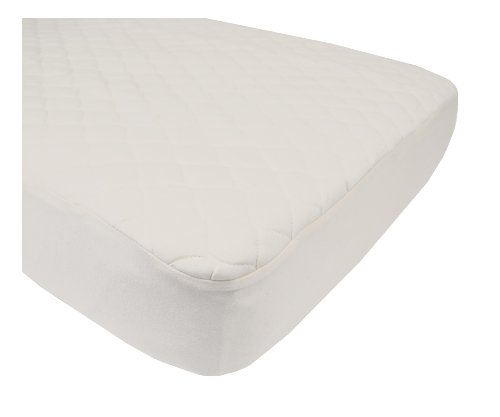 American Baby Company Organic Cotton Quilted Crib & Toddler Crib Size Fitted Mattress Pad Covers, Natural