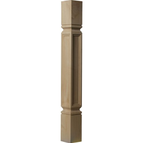 Ekena Millwork COL03X03X35KERW 3 3/4-Inch W x 3 3/4-Inch D x 35 1/2-Inch H Kent Raised Panel Cabinet Column, ()