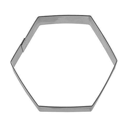 Hexagon Cookie Cutter 3 in B701 - Foose Cookie Cutters - USA Tin Plate Steel