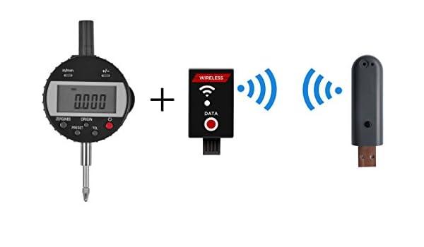 Digital reloj comparador IP65 con Wireless de interface para transferencia de datos, rango de medición 0 - 50 mm, resolución de 0,001 mm, ...
