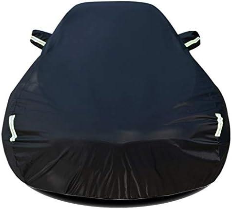 DUWEN KIAリオアウトドアカーカバーオールウェザーユニバーサル通気性防水オートカバー防塵アンチUVサンオートプロテクターカバーと互換性 (Color : ブラック, Size : S 4dr Sedan)