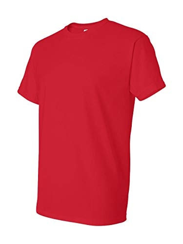 (Gildan mens DryBlend 5.6 oz. 50/50 T-Shirt(G800)-RED-L)