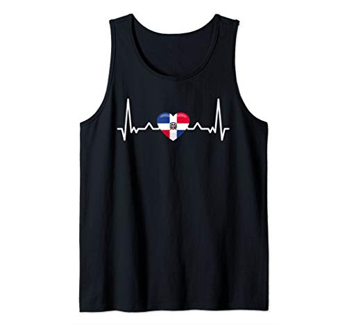 My heart beats for the Dominican Republic - Country Flag Tank Top
