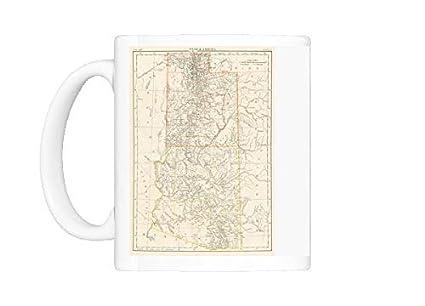 Amazon.com   Mug of Utah Arizona map 1885 (14756592): Coffee Cups & Mugs