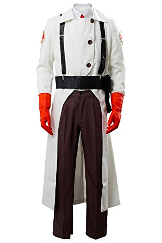 Cosplaysky Team Fortress 2 Medic Cosplay Outfit Halloween Costume Small White