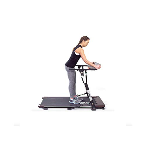 Landice M1 Folding Treadmill for The Home Low Profile Compact Easy Storage 3 Second Flat-to-Ready USB Charger Speakers