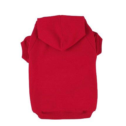 BINGPET Blank Basic Cotton/Polyester Pet Dog Sweatshirt Hoodie BA1002, Red Medium