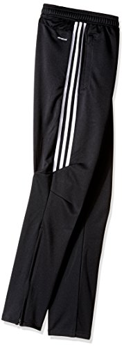 adidas Youth Soccer Tiro 17 Pants, Small - Black/White/White by adidas (Image #2)