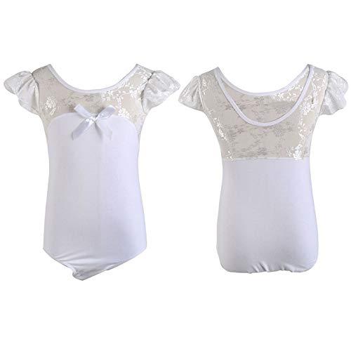 HeroStore Gymnastics Leotard Lace Dress Girl Tutu Strap Dress FlutterFly Sleeve Ballet Leotards Girls Ballet Dance Wear