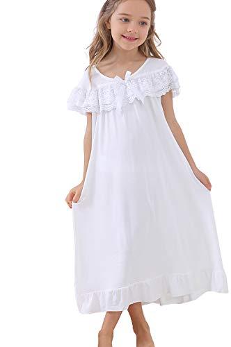 Cute Little Girls' Princess Nightgowns Lace Sleep Dress Kids -