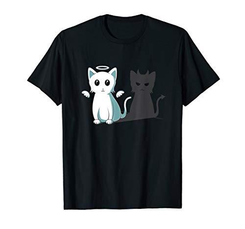 Purr Evil Devil Cat T-Shirt Halloween Cat Angel Devil -