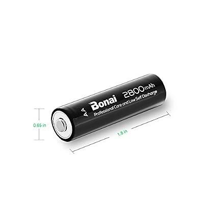 BONAI AA Rechargeable Batteries High-Capacity 2300mAh Ni-MH for Flashlight,Toys & So On(8 Pack)
