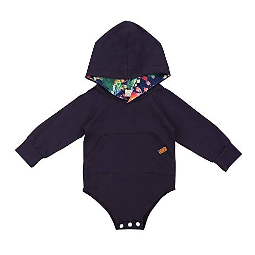 Jimly Newborn Baby Grils Clothes Long Sleeve Hooded Romper with Pockets for -