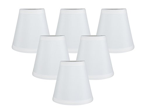 Meriville Set of 6 Off White Faux Silk Clip On Chandelier La
