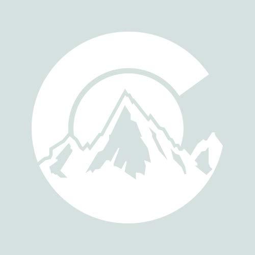 RDW Colorado C Logo Shaped Sticker - Decal - Die Cut - CO Denver Boulder Fort Collins shape flag - White 6.00