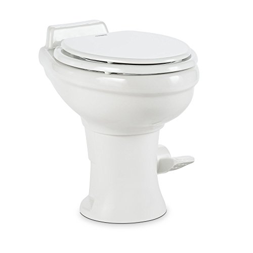 (Dometic 320 Series Standard Height Toilet, White)