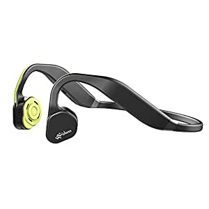 Vidonn F1 Titanium Bone Conduction Headphones IP55 Waterproof Outdoor Sports Headset Wireless Bluetooth Earphone with Microphone (Grey-Yellow)
