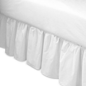 Mainstays Bedskirt Twin Size Arctic White 180 Thread Count