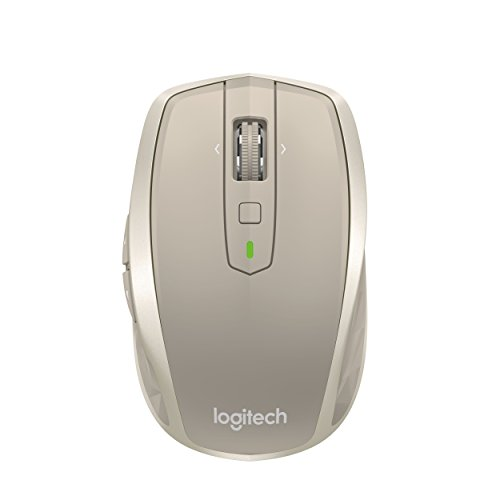 Logitech MX Anywhere 2 Wireless Mobile Mouse, Long Range Wireless Mouse with Hyper Scroll and Easy-Switch up to 3 Devices - Stone (3 Button Mouse Logitech)