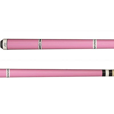 Rage RG97 Graphic Metallic Pink with White and Black//Silver Bands Cue