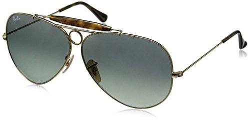 Ray-Ban SHOOTER - GOLD Frame LIGHT GREY GRADIENT DARK GREY Lenses 62mm - 62 Ray Aviator Ban Polarized
