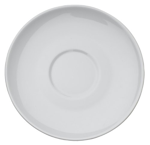 Rattleware Cremaware White Saucer, 4.5-Inch, 6-Pack
