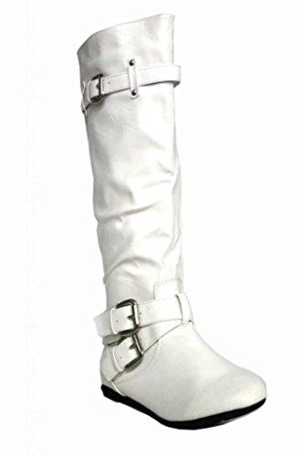 Kali  (White High Heel Boots)