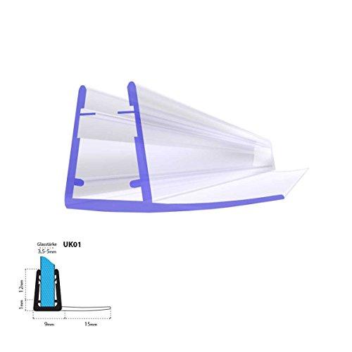 Joint d'étanchéité de rechange pour verre de douche d'épaisseur 3,5mm/ 4mm/ 5mm UPS protection surtensions de cabine de douche - UK01 190cm