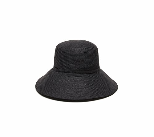 ale by Alessandra Women's Brentwood Lightweight Hemp Straw Sun Hat, Black, One Size by ale by Alessandra