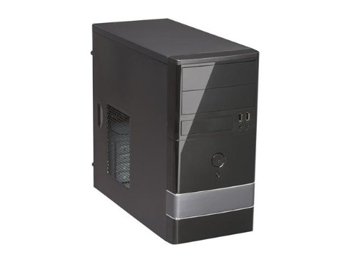 Rosewill Micro ATX Mini Tower Computer Case, Steel and plastic computer case with 1 x 120mm front fan and 1 x 80mm rear fan, Front I/O and 2x USB 2.0 (FBM-01)