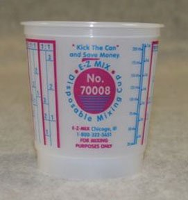 (Disposable Mixing Cups - 1/2 Pint - 100/Box)