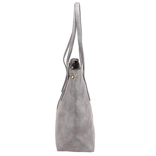 ZEARO Damen Tasche Europäische und amerikanische Retro einfache wilden Fransen Große Schultertasche