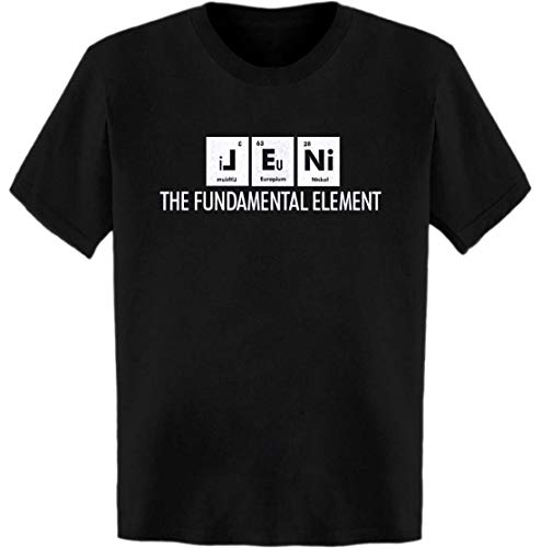 Jenis Print - Jeni The Fundamental Element Periodic Table T-Shirt Black